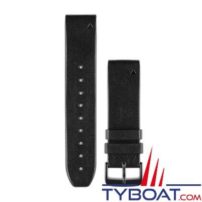 Garmin - Bracelet QuickFit™ - 22mm - Cuir noir