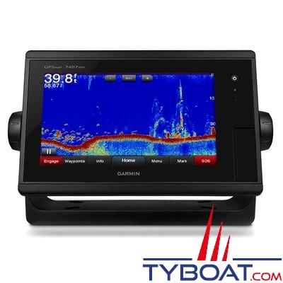 Garmin - Écran multifonctions GPSMAP 7407xsv tactile avec sondeurs intégrés CHIRP / DownVü / SideVü - livré sans sonde