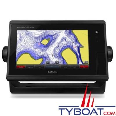 Garmin - Écran multifonctions GPSMAP 7408xsv J1939 tactile avec sondeurs intégrés CHIRP / DownVü / SideVü - livré sans sonde