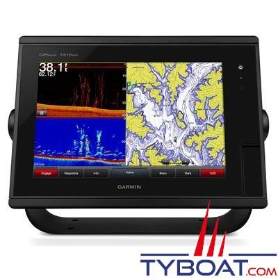 Garmin - Écran multifonctions GPSMAP 7410xsv tactile avec sondeurs intégrés CHIRP / DownVü / SideVü - livré sans sonde