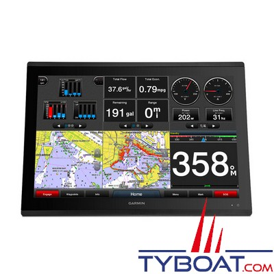 GARMIN - Lecteur de cartes et combiné GPS - GPSMAP 8424 - Ecran 24