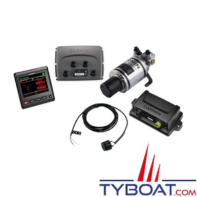Garmin - Pack pilote automatique Reactor™ 40 Compact pour direction hydrauliques avec GHC™ 20