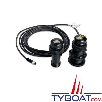 Garmin - Sonde DST800 - Traversante plastique - Tri fonctions (Profondeur/Température/Vitesse) - NMEA2000