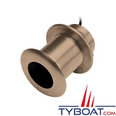 GARMIN - Sonde traversante bronze - B150M - CHIRP 95/155kHz - 300W - Profondeur et température - Angle 20° - Connecteur GARMIN 8 broches