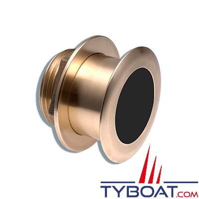 GARMIN - Sonde traversante bronze - B164 - 1Kw - 50/200KHz - Profondeur et température - Angle 20° - Connecteur GARMIN 8 broches