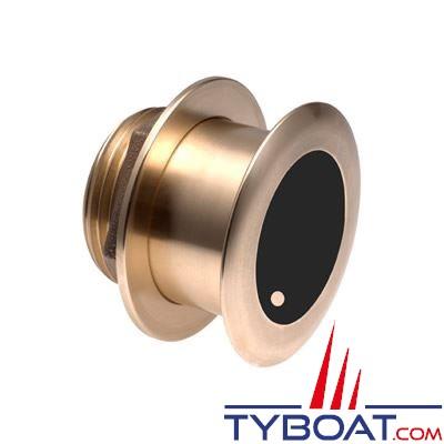 GARMIN - Sonde traversante bronze - B175H - CHIRP 150/250kHz - 1kW - Angle 0° - Connecteur  GARMIN 8 broches