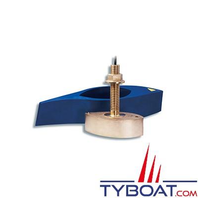 GARMIN - Sonde traversante bronze  B260 - 1Kw - 50/200 KHz - profondeur et température - Connecteur GARMIN 8 broches - avec fairing