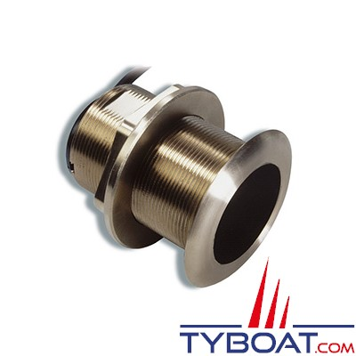 GARMIN - Sonde traversante bronze - B60 - 600W - 50/200 KHz - Profondeur et température - Angle 12° - Connecteur GARMIN 8 broches