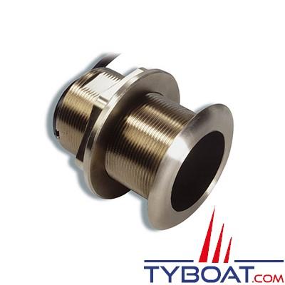 GARMIN - Sonde traversante bronze - B60 - 600W - 50/200 KHz - Profondeur et température - Angle 20° - Connecteur GARMIN 8 broches