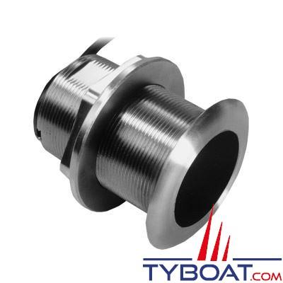 GARMIN - Sonde traversante inox SS60 - 600W - 50/200 KHz - Profondeur et température - Angle 0° - Connecteur GARMIN 8 broches