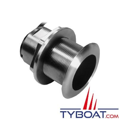 GARMIN - Sonde traversante inox SS60 - 600W - 50/200 KHz - Profondeur et température - Angle 12° - Connecteur GARMIN 8 broches