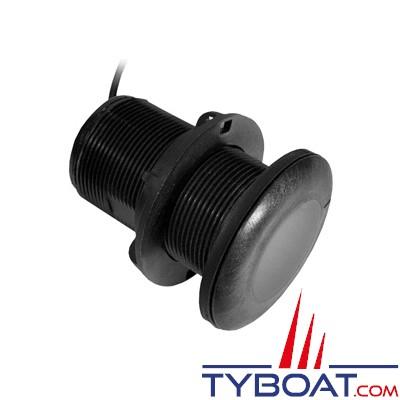 GARMIN - Sonde traversante plastique P19 - 77/200kHz - 500W - Angle 12° - Profondeur/Température - Connecteur GARMIN 8 broches
