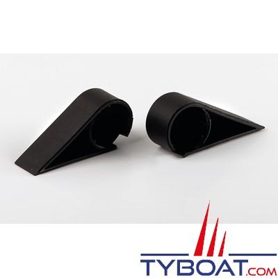 Gebo - Caches latéraux pour charnières panneau Flushline gauche et droite