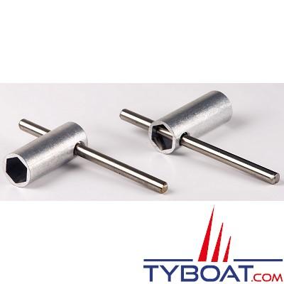 Gebo - clé métal pour charnière 10mm panneau