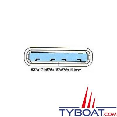 Gebo - Hublot Econoline rectangulaire ouvrant 676x167