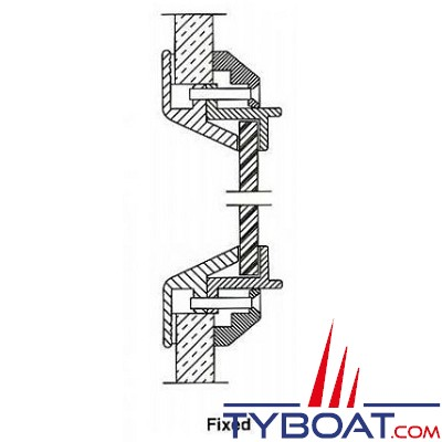 Gebo - Hublot Econoline rectangulaire fixe 405x155