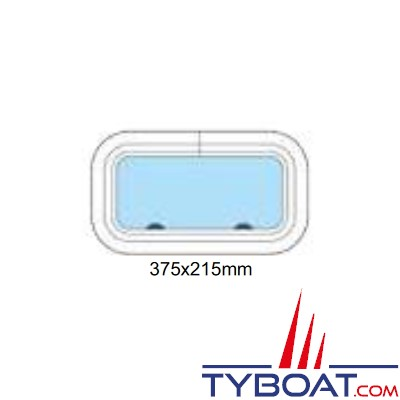 Gebo - Hublot standard rectangulaire fixe 375x215