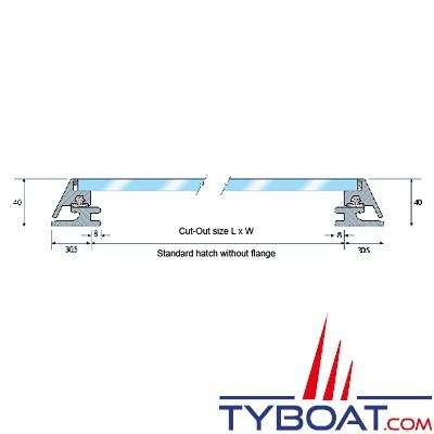Gebo - Panneau de pont standard sans épaulement - découpe 325x185