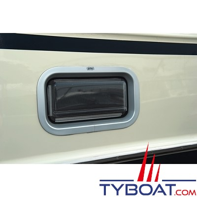 GEBO - Pare-pluie pour hublots standards rectangulaire 600x175