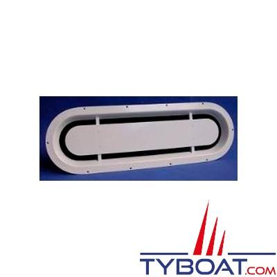 Gebo - ventilation moteur - vis apparente - découpe 600x175 - blanc
