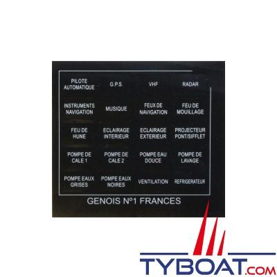 Genois - Planche 20 étiquettes français
