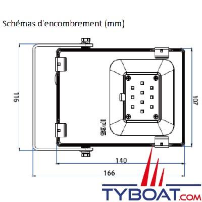 Génois - Projecteur extra plat LED IP65 - 10 Watts - 24Volts