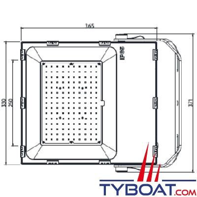 Génois - Projecteur extra plat LED IP65 - 150 Watts - 230 Vac