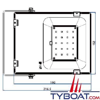 Génois - Projecteur extra plat LED IP65 - 20 Watts - 24Volts