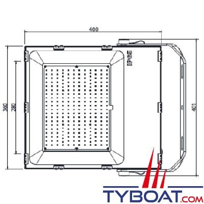 Génois - Projecteur extra plat LED IP65 - 200 Watts - 230 Vac