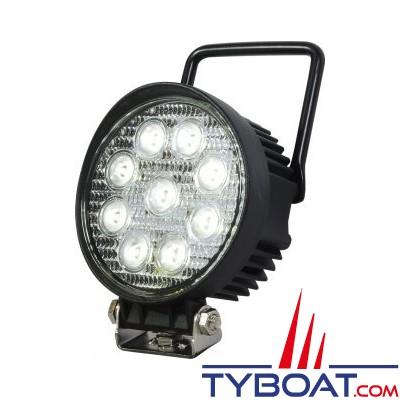Genois - Projecteur LED CREE - 27W - 1650 lumens - avec étrier + cordon 3m - 12/24V