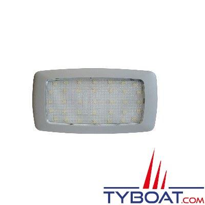 Plafonnier extra-plat 30 LEDs 12V blanc chaud
