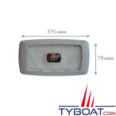 plafonnier extra plat 34 leds 12v interrupteur tactile blanc chaud genois fs041 tyboat com. Black Bedroom Furniture Sets. Home Design Ideas