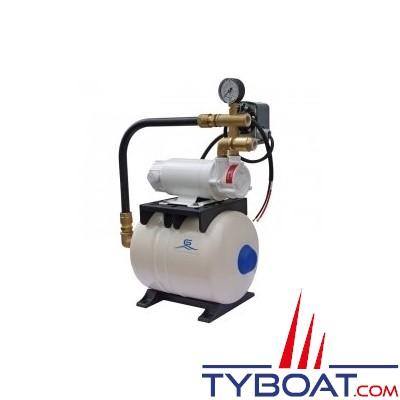 Gianneschi - Groupe d'eau Idromini - 2,2 bars/0,18 kW - 22 Litres/minute - 24 Volts - réservoir 8 litres - ACB61G
