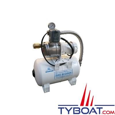 Gianneschi - Groupe d'eau EcoInox1 - 3 bars/0,3 kW - 45 Litres/minute - Réservoir 20 Litres - 24 Volts