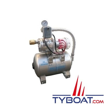 Gianneschi - Groupe d'eau EcoInox2 - 3,5 bars/0,45 kW - 55 L/min - réservoir 20 litres inox - 230/400 Volts