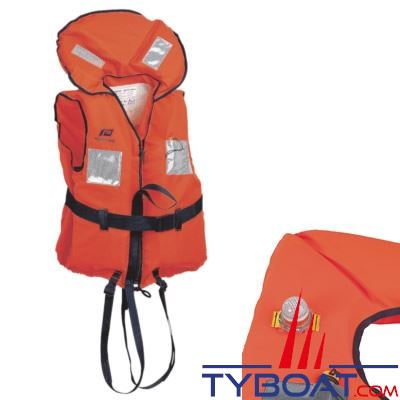 Gilet de sauvetage Plastimo Typhon  150N -  50 à 70 Kg avec feu