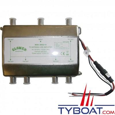 Glomex - Amplificateur de ligne 6 sorties - 12/24 Volts