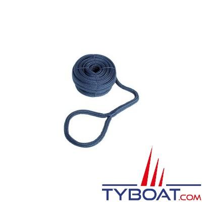 GS Marine - Bosse d'amarrage - Bleu - Epissure/cosse -   Ø 12mm - 2 x 7 mètres