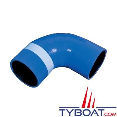 Halyard - Raccord échappement coudé 90° Ø int. 89 mm silicone