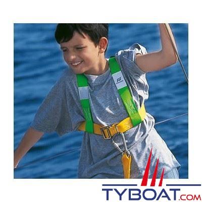 Harnais de sécurité Plastimo Réglable 2 pour enfant - avec longe 2 mousquetons
