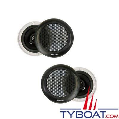 Haut-parleurs Navsound Tempo 80W encastrable - Ø 180mm - IPX7 - noir (la paire)