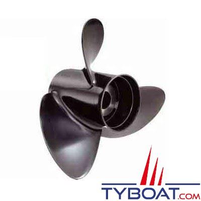 Hélice aluminium hors-bord SOLAS RUBEX 3 pâles sans moyeu 150 à 300cv et sterndrive rotation à droite 14,3x21