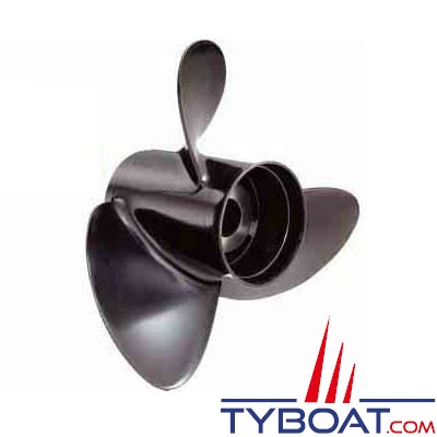Hélice aluminium hors-bord SOLAS RUBEX 4 pâles sans moyeu 60 à 140cv 13,25 x 13