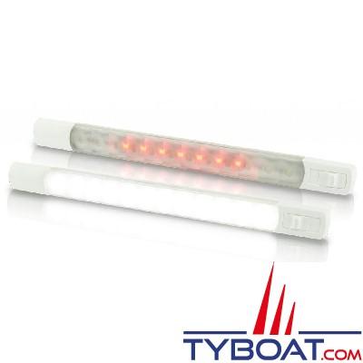 Hella Marine - Règlette Leds Blanc/Rouge avec interrupteur - IP67 - 24 Volts