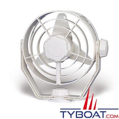 HELLA MARINE - Ventilateur TURBO - 12 Volts - Sur socle - Blanc