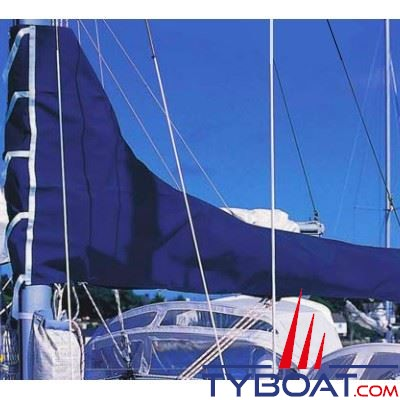 PLASTIMO - Housse de grand voile - Dralon bleu pour bôme - Longueur 3.55 mètres