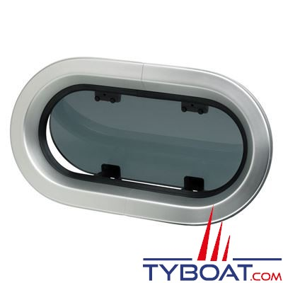 Hublot aluminium ovale Vetus type PM133 344 x 198 mm classification CE A3