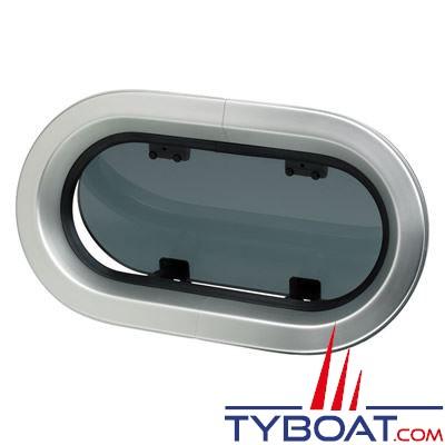 Hublot aluminium ovale Vetus type PM153 390 x 220 mm classification CE A3