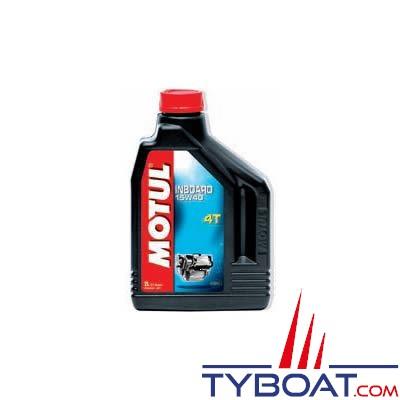 MOTUL - Huile minérale Inboard 4T - SAE 15W40 - Inboard diesel et turbo diesel - 2 litres