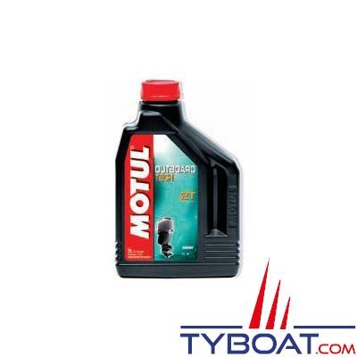 Huile technosynthése Motul Outboard TECH 2T pour moteur 2 temps hors-bord et jet-ski - 5 litres